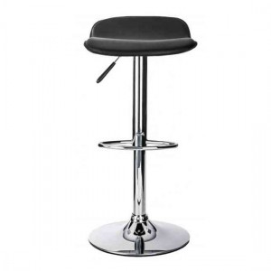 Ohio Faux Leather Bar Stool In Black