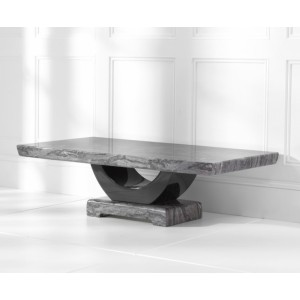 Memphis Marble Coffee Table Rectangular In Dark Grey And Black