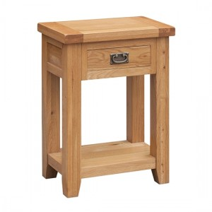 Acorn Solid Oak Side Table In Light Oak With 1 Drawer