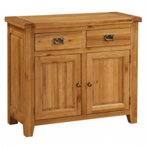 Acorn Wooden Small Sideboard In Light Oak With 2 Doors And 2 Drawers