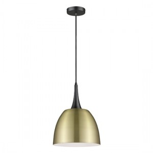 Achird Luminaire Pendant In Antique Brass And Matt Black