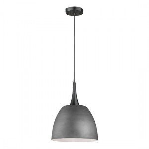 Achird Luminaire Pendant In Cement And Matt Black