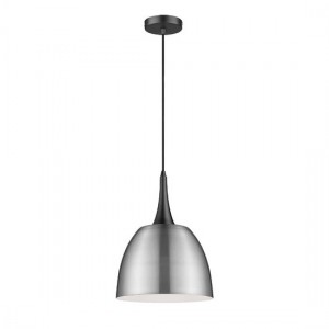 Achird Luminaire Pendant In Satin Nickel And Matt Black