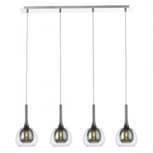 Adhara Straight Decorative Luminaire In Smoked Grey