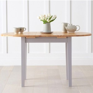Alaska Extending Wooden Dining Table In Oak And Grey