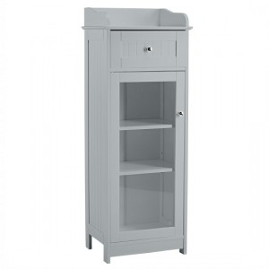 Alaska Glass Display Cabinet In Grey