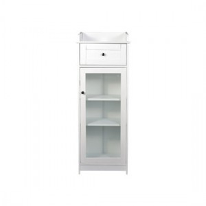 Alaska Glass Display Cabinet In White