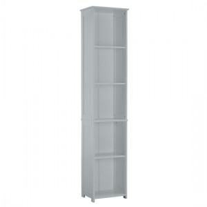 Alaska Tall Wooden Shelving Unit In Grey