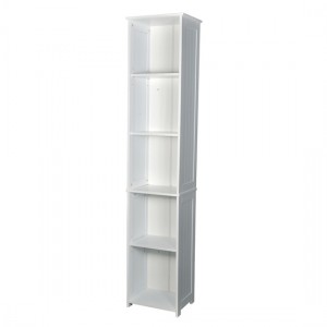 Alaska Tall Wooden Shelving Unit In White
