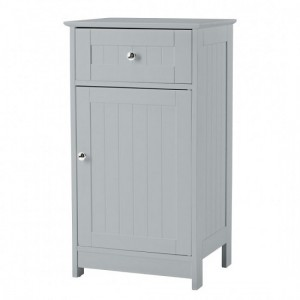 Alaska Wooden Low Storage Cabinet In Grey