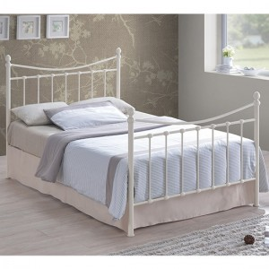 Alderley Metal Small Double Bed In Ivory