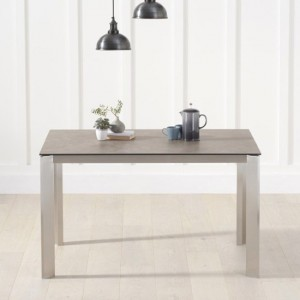 Alejandra Italian Ceramic Dining Table In Brown