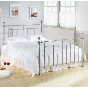 Alexander Metal Double Bed In Chrome