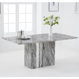 Alice 180cm Marble Rectangular Dining Table In Grey