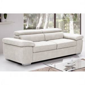 Amando Fabric 2 Seater Sofa In Beige