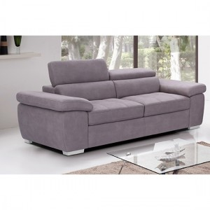Amando Fabric 2 Seater Sofa In Mushroom