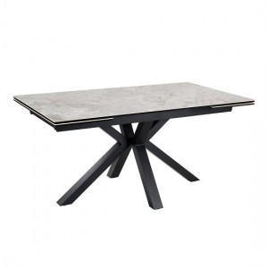 Amari Extending Ceramic Marble Dining Table In Grey