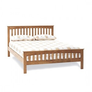 Amelia Wooden Small Double Bed In Honey Oak