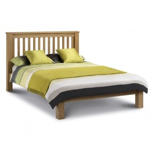 Amsterdam Low Foot End King Size Bed In Waxed Oak