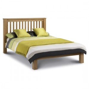 Amsterdam Wooden Low Foot End Super King Size Bed In Oak