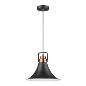 Aladfar Luminaire Pendant In Matt Black And Copper