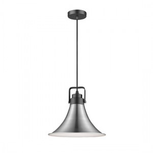 Aladfar Luminaire Pendant In Satin Nickel And Matt Black