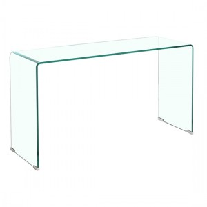 Angola Clear Glass Console Table