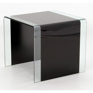 Angola Glass Lamp Table In Black