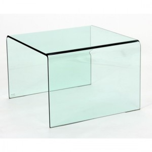 Angola Glass Lamp Table In Clear
