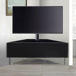 Antares Ultra Wooden Corner TV Stand In Black High Gloss