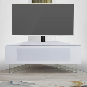 Antares Ultra Wooden Corner TV Stand In White High Gloss