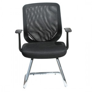 Tate Mesh Visitors Home And Office Chair In Black With Fabric Seat