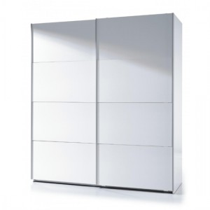 Arctic Large Sliding Wardrobe With Shelves In White High Gloss