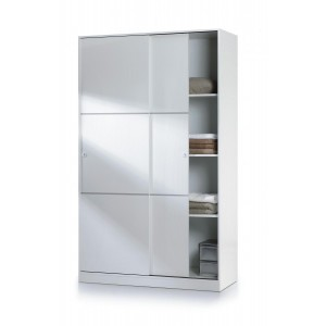 Helix White High Gloss Finish 2 Door Sliding Wardrobe
