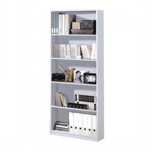 Arctic Wooden Bookcase In White High Gloss With 5 Shelves