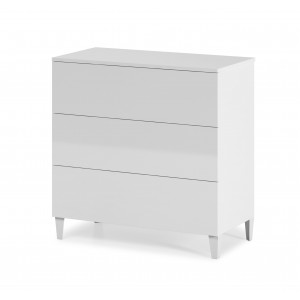Helix Chest Of 3 Drawers In White High Gloss