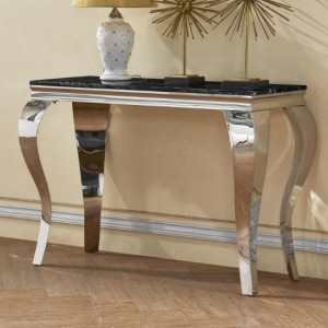 Arriana Marble Console Table With Stainless Steel Legs