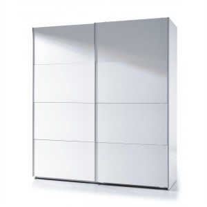 Helix 6 Foot White High Gloss Finish 2 Door Sliding Wardrobe