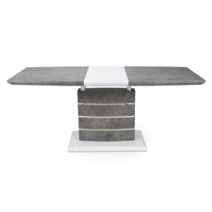 Atlas Large Extendable Grey And White Granite Effect Dining Table