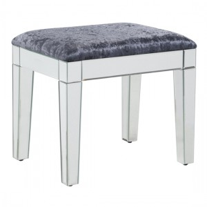 Augustina Mirrored Wooden Dressing Stool