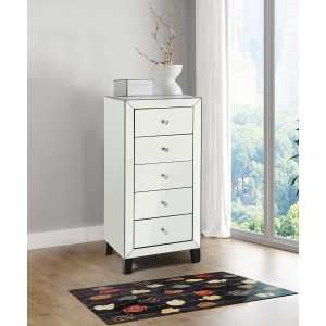 Stella Mirrored Glass Chest Of Drawers With 5 Drawers