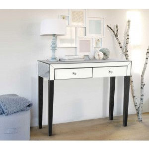 Stella Mirrored Rectangular Dressing Table With 2 Drawers