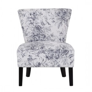 Austen Linen Fabirc Bedroom Chair In Floral