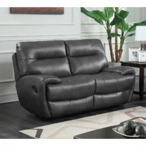 Bailey Recliner LeatherGel And PU 2 Seater Sofa In Grey