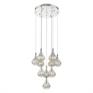 Alkes Large Decorative Luminaire Pendant In Chrome