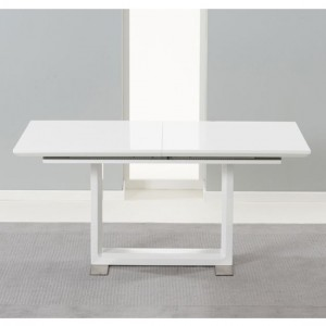 Beckley Extending Wooden Dining Table In White High Gloss
