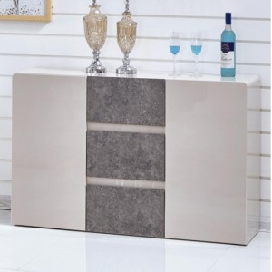 Belarus Wooden Sideboard Cream And Stone High Gloss