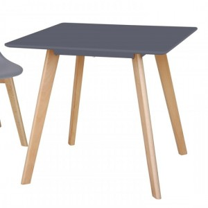 Belgium Small Wooden Dining Table In Grey