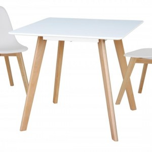 Belgium Small Wooden Dining Table In White