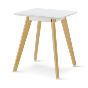 Belgium Square Wooden Lamp Table In White
